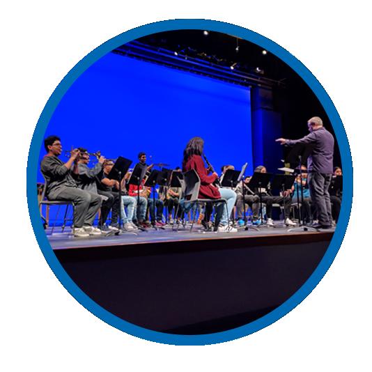 Arts program - band performance