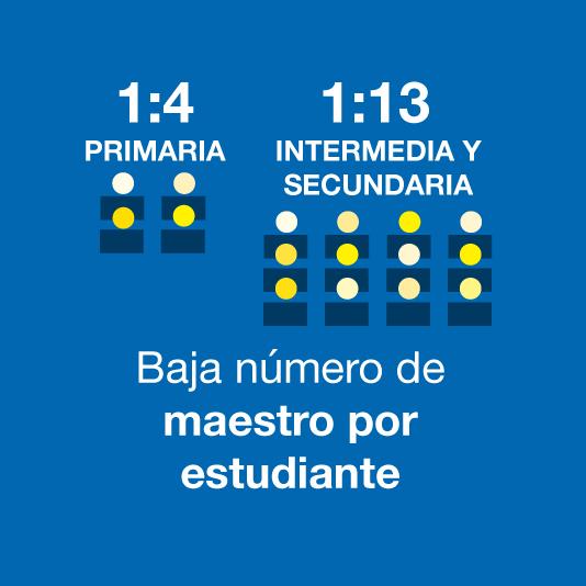 Low student teacher ratio