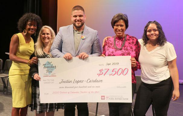 Justin Lopez-Cardoze, DC 2020 Teacher of the Year