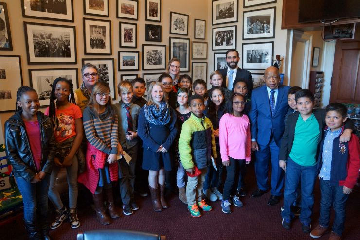 5th grade with Rep. John Lewis