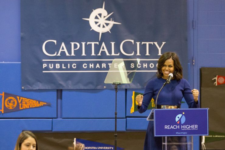 First Lady Mrs. Obama at Capital City