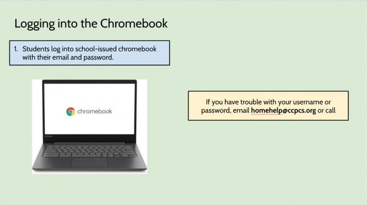Logging into Chromebook