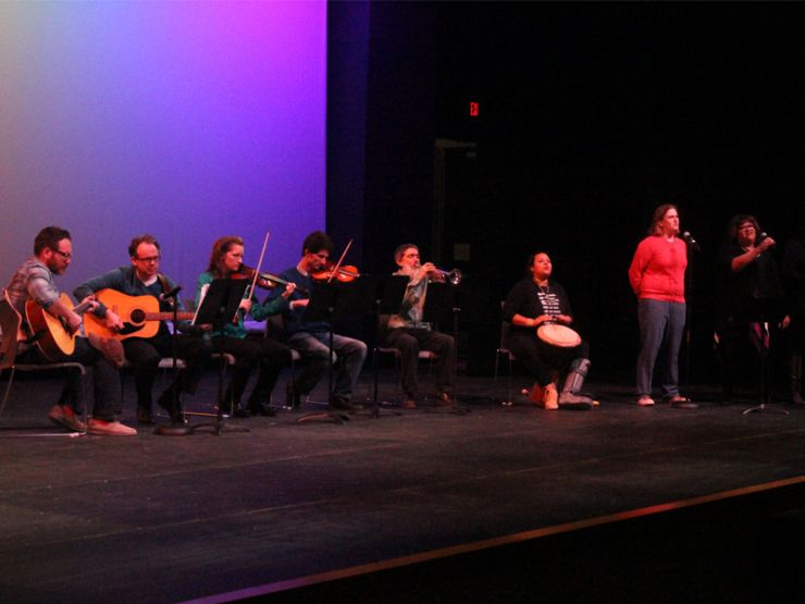 Parent performance at Black History Month celebration