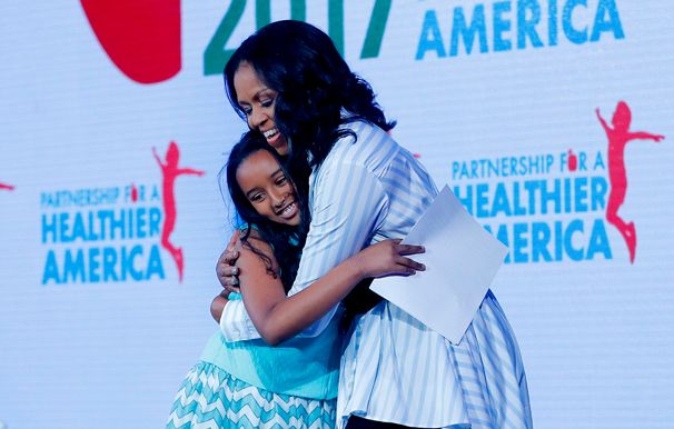 Michelle Obama with Capital City 5th grader