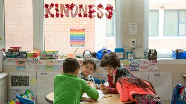 Kindness in the Lower School. Photo courtesy of Allison Shelley/The Verbatim Agency for American Education: Images of Teachers and Students in Action